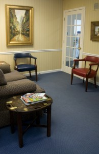 Dentist St Louis-Dr James Rhea waiting room