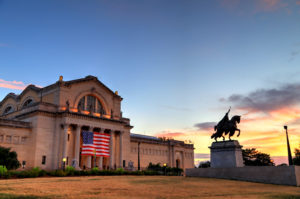 St. Louis, Missouri - July 7, 2017 - The St. Louis Art Museum on Art Hill in Forest Park, St. Louis, Missouri.